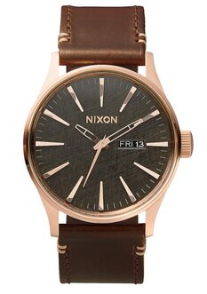 SENTRY LEATHER ROSE GOLD GUNMETAL BROWN-mens-Backdoor Surf
