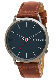 ULTRA GUNMETAL LEATHER - GUNMETAL-watches-Backdoor Surf