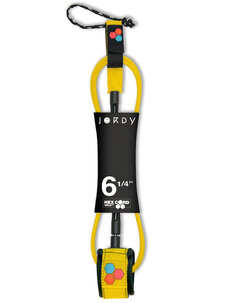 6'0 JORDY HEX STANDARD LEASH-leg-ropes-Backdoor Surf