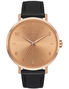 ARROW LEATHER - ROSE GOLD BLACK-watches-Backdoor Surf