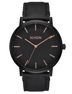 PORTER LEATHER ALL BLACK ROSE GOLD-watches-Backdoor Surf