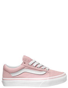 KIDS OLD SKOOL - CHALK PINK WHT-footwear-Backdoor Surf