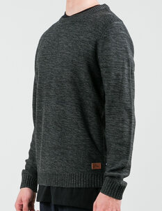 SKYLINER CREW KNIT - BLACK MARLE-mens-Backdoor Surf