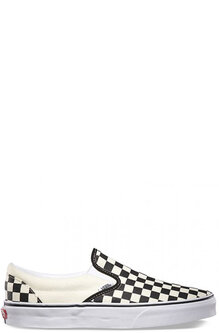 CLASSIC SLIP ON - CHECKERBOARD BLK WHT-footwear-Backdoor Surf