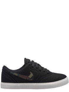 BOYS CHECK CANVAS (GS) - BLACK OLIVE GREEN-footwear-Backdoor Surf