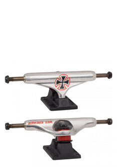 159 STAGE 11 HOLLOW WES KREMER TRUCKS - SILVER MATTE BLACK-skate-Backdoor Surf