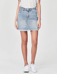 GEORGIE DENIM SKIRT-womens-Backdoor Surf