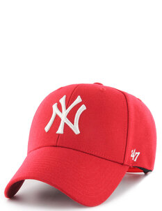NY YANKEES MVP SNAPBACK - RED WHITE-mens-Backdoor Surf