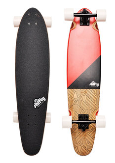 "FLEX CORNERS RED LONGBOARD - 34""-skate-Backdoor Surf"