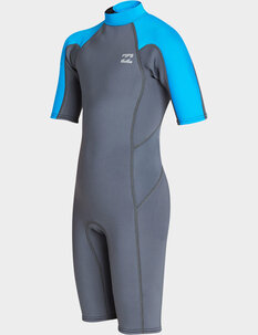2MM BOYS ABSOLUTE FL BZ SS SPRINGSUIT-wetsuits-Backdoor Surf