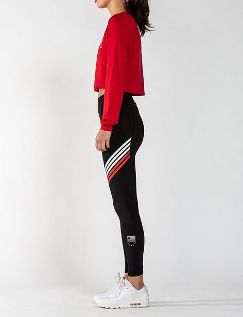 d76a898df4 SYNDICATE 2.0 LEGGINGS - BLK WHT RED - Women's Shorts, Skirts ...