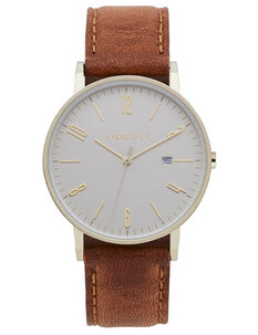 LATCH GOLD LEATHER WATCH - GOLD TAN-womens-Backdoor Surf