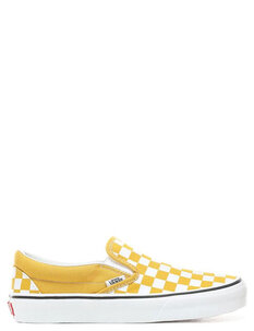 CLASSIC SLIP ON CHECKERBOARD - YOLK YELLOW WHT-footwear-Backdoor Surf