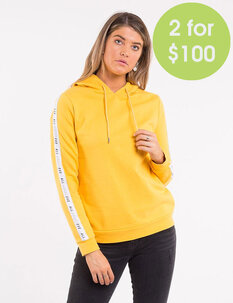 2FOR100 ACTION TAPED HOODY-womens-Backdoor Surf