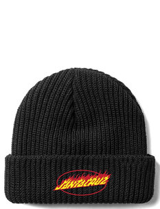 FLAMING OVAL DOT BEANIE-mens-Backdoor Surf