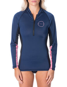 LADIES 1/4 ZIP LS UVT-wetsuits-Backdoor Surf