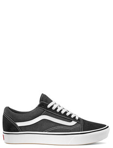 UA COMFYCUSH OLD SKOOL - BLACK WHITE-footwear-Backdoor Surf