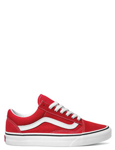 OLD SKOOL - RACING RED WHITE-footwear-Backdoor Surf