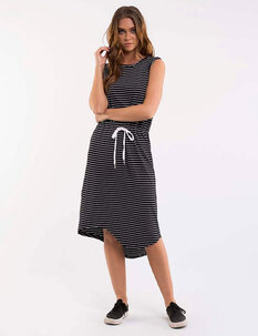 WAISTED MIDI DRESS-womens-Backdoor Surf