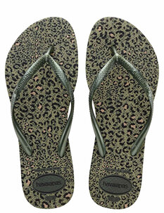 SLIM ANIMALS METLLIC JANDAL - OLIVE GREEN-footwear-Backdoor Surf