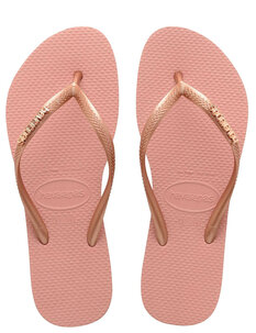 SLIM LOGO METALLIC JANDAL - NUDE ROSE GOLD-footwear-Backdoor Surf