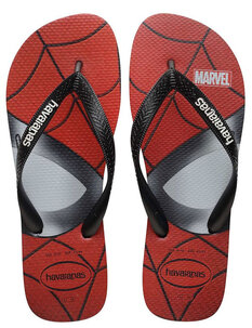 KIDS TOP MARVEL JANDAL - BLACK-footwear-Backdoor Surf