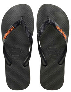 LOGO FILETE JANDAL - BLACK NEON ORANGE-footwear-Backdoor Surf