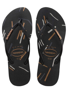 SLIM LOGO METALLIC JANDAL - FINE LINES-footwear-Backdoor Surf