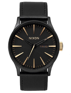 SENTRY LEATHER - MATTE BLACK GOLD-mens-Backdoor Surf