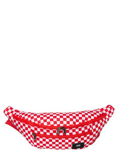 WARD CROSS BODY BAG - RED CHECK-mens-Backdoor Surf