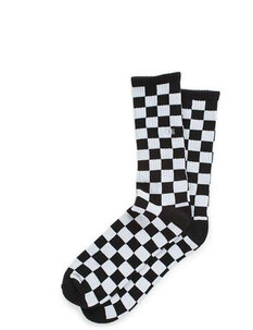 CHECKERBOARD II CREW SOCK BLACK WHITE - 9.5-13-mens-Backdoor Surf