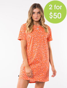 2 FOR $79.99 SPRING DITSY TEE DRESS-womens-Backdoor Surf