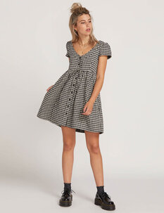 MAKING ME PLAID DRESS-womens-Backdoor Surf
