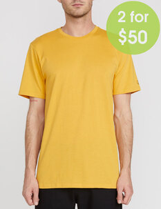 2FOR50 SOLID TEE - HONEY GOLD-mens-Backdoor Surf