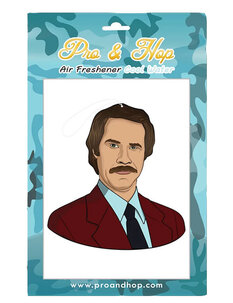 RON BURGANDY AIR FRESHENER-mens-Backdoor Surf