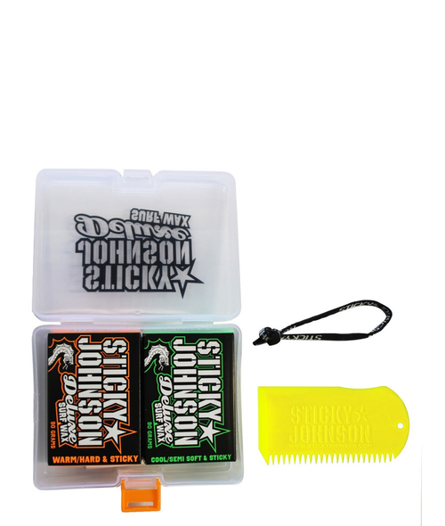 STICKY JOHNSON GIFT PACK - 2 WAX + COMB