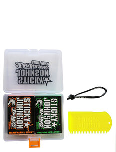 STICKY JOHNSON GIFT PACK - 2 WAX + COMB-surf-Backdoor Surf