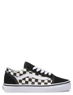 KIDS OLD SKOOL PRIMARY CHECK - BLACK WHITE-footwear-Backdoor Surf