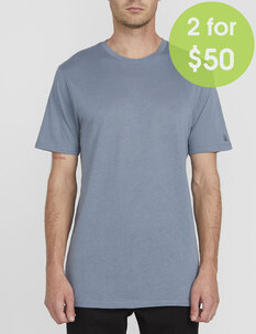 2FOR50 SOLID TEE - STORMY BLUE-mens-Backdoor Surf