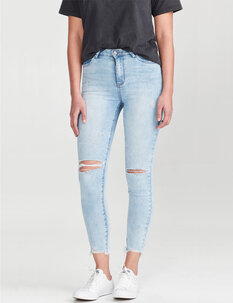 ELLA RIPPED JEAN - BLUE-womens-Backdoor Surf