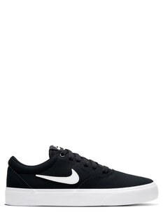 YOUTH SB CHARGE CANVAS - BLACK WHITE BLACK-footwear-Backdoor Surf
