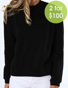 2FOR100 DF WASH CREW FLEECE-womens-Backdoor Surf