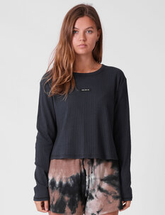 RIBBED LS TEE-womens-Backdoor Surf
