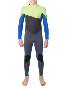 3X2 BOYS OMEGA FL STEAMER-wetsuits-Backdoor Surf