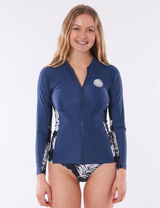 WOMENS HACIENDA ZIP THRU LS RASHIE-womens-Backdoor Surf