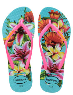 KIDS SLIM FLORAL - BLUE-footwear-Backdoor Surf