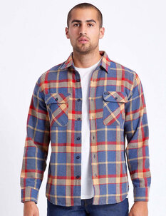 BOWERY LS FLANNEL SHIRT-mens-Backdoor Surf